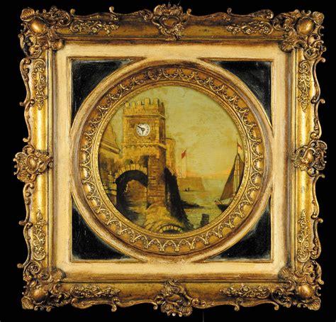 cornici quadro quadro orologio con cornice a pastiglia dorata svizzera