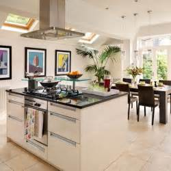 ideas for kitchen diners white modern kitchen diner kitchen design idea housetohome co uk