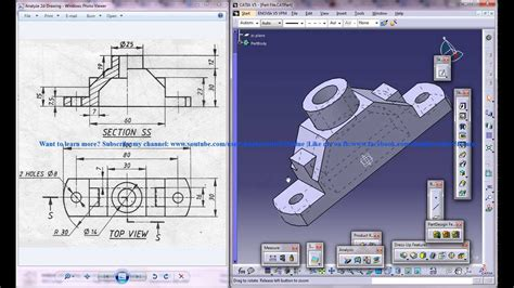 tutorial video catia v5 catia 3d drawings