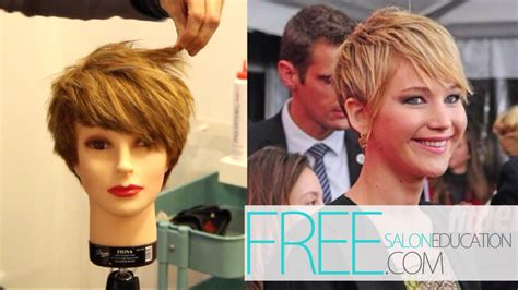 try new hairstyles virtually 360 degree jennifer lawrence pixie haircut how to cut the jennifer