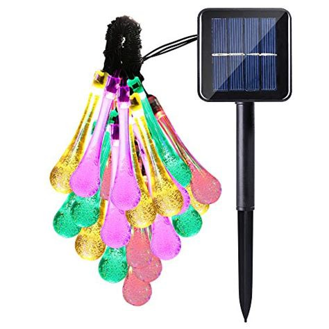 led icicle string lights with drop outdoor icicle solar led string lights water drop