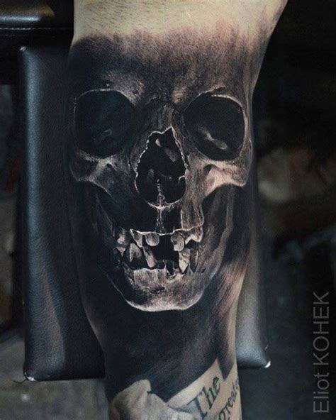 realistic skull tattoo skull ideas best ideas gallery