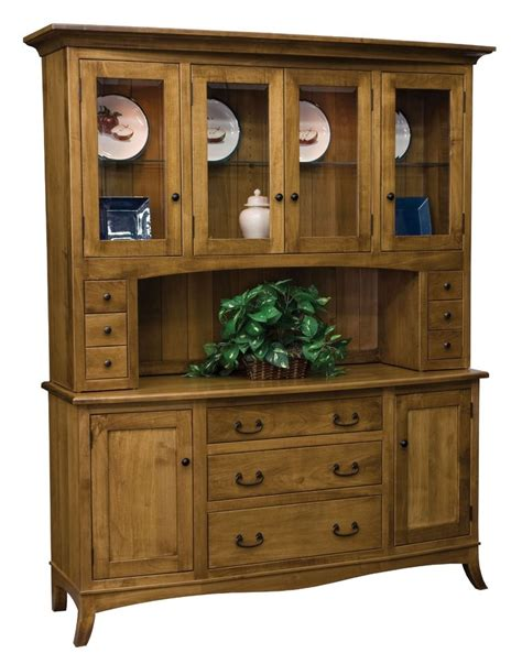 hutch cabinets dining room amish cottage farmhouse hutch dining room china cabinet solid wood furniture ebay
