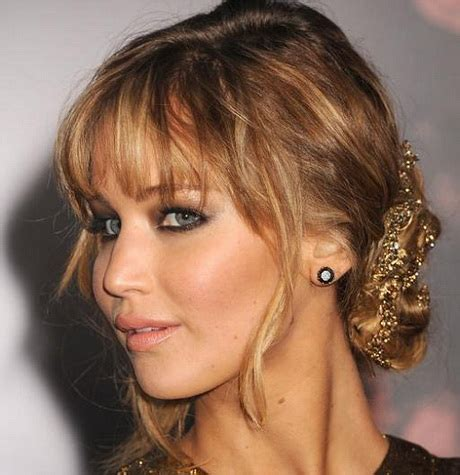 elegant hairstyles with fringe prom hairstyles with fringe