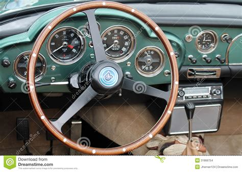 vintage aston martin interior classic aston martin interior editorial stock image