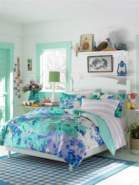 Outstanding Girls Bedrooms Teenage Girl Bedroom Blue Flower Themes Teenage Girl