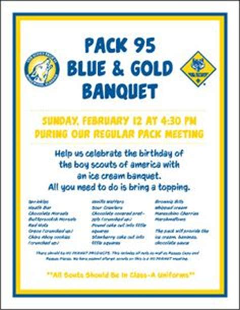 1000 Images About Cub Scouts Blue Gold Banquet Ideas On Pinterest Cub Scouts Blue Gold Blue And Gold Banquet Program Template