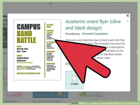 How To Create A Flyer Using Microsoft Publisher 11 Steps Flyer Template Publisher