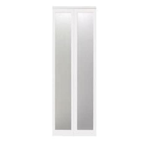 Bifold Mirrored Closet Doors Home Depot Impact Plus Mir Mel 24 In X 80 In Primed Frosted Mirror Bifold Closet Door 162 Doors