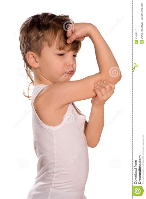 little boy flexing bicep little boy flexing biceps stock image image of hand
