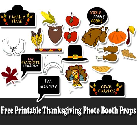 printable photo booth props thanksgiving free printable thanksgiving photo booth props