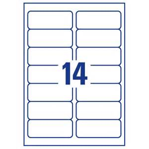 avery 14 labels per sheet template avery j8563 25 clear address labels 14 per sheet 99 1x38