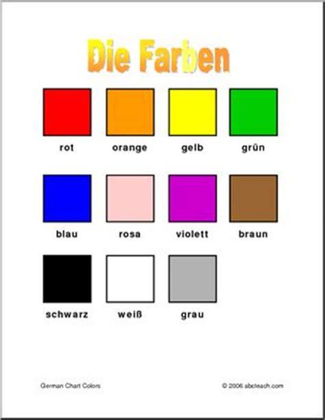 colors in german german chart colors abcteach
