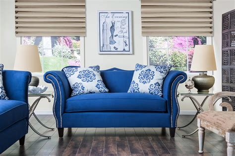 royal blue furniture furniture of america royal blue anita sweetheart sofa