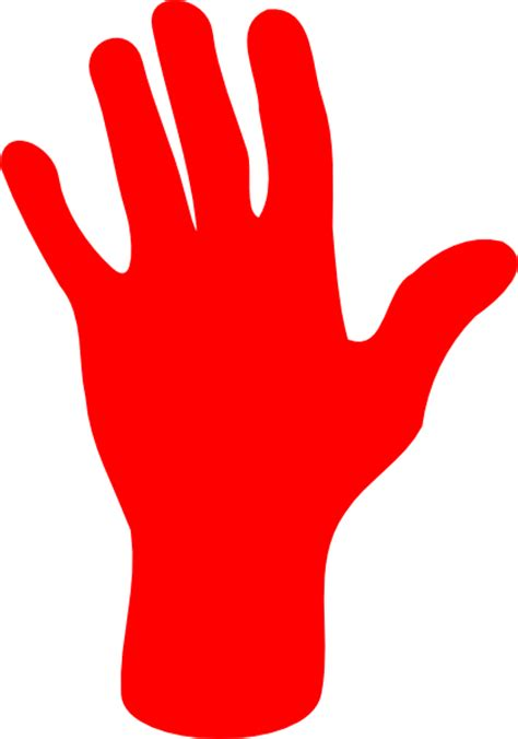 red hands red palm hand clip art at clker com vector clip art