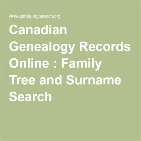 Free Records Canada Best 25 Surname Search Ideas On Ancestry Websites Photo Search And