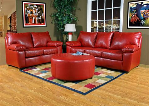 red leather loveseats red leather look fabric modern sofa loveseat set w options