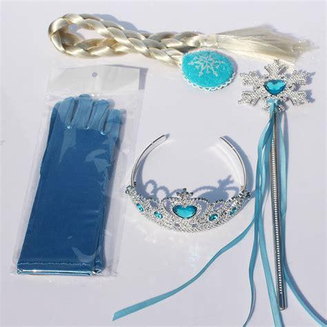Aksesoris Frozen 3 In 1 Rambut Tongkat Mahkota jual mahkota tongkat dan rambut sarung tangan elsa