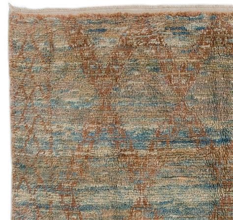 rust colored rugs moroccan wool rug in light blue and rust color for sale at 1stdibs
