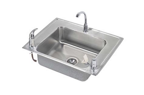 drop in utility sink stainless elkay classroom single bowl drop in self stainless