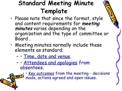 how to type up minutes for a meeting template how to write effective meeting minutes