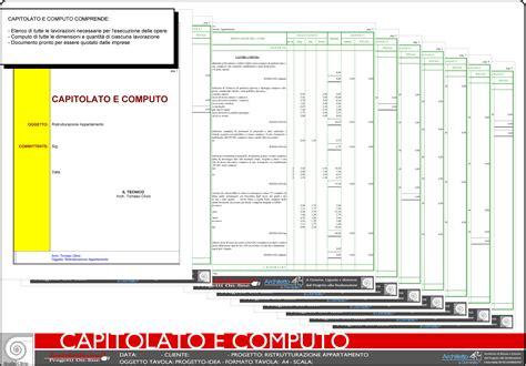 computo metrico per ristrutturazione appartamento capitolato e computo metrico elenco di tutte le