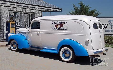 Vintage Shower Curtain Good Humor Ice Cream Truck Digital Art Photograph By
