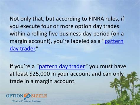 pattern day trading margin how much money do you need to get started trading options