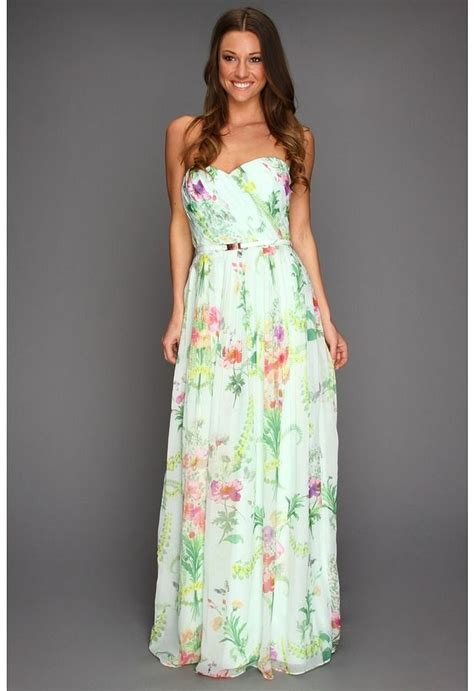Muddy Floral Print Dresses by Ted Baker Serlant Wallpaper Floral Print Maxi Dress