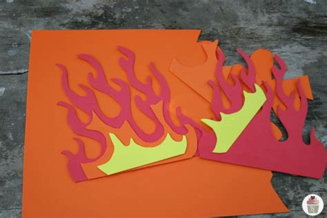 How To Make Flames Out Of Paper - best photos of paper flames template flames cut out