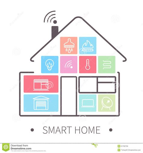 smart home images smart home outline icon stock vector image 51702755