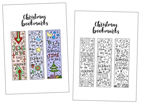 printable holiday bookmarks to color coloring christmas bookmarks free printable daydream
