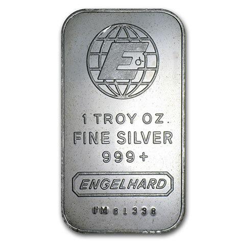 1 Troy Oz Engelhard Silver Bars - what of 1 oz silver bar should i buy buy gold