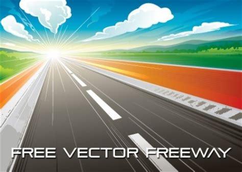 jalan raya sunrise vektor vektor misc vektor gratis