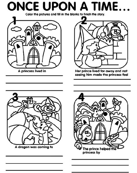 coloring book pages story once upon a time crayola co uk