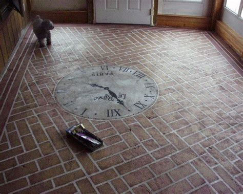 Painted Concrete Floors That Last and Last and Last   The