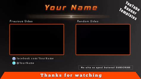 Free Youtube Outro Template Psd 1 Youtube Outros Templates
