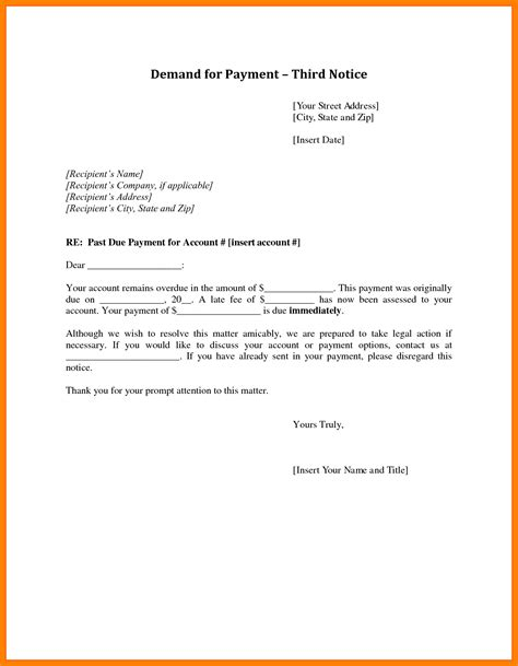 Demand Letter By Builder 28 Demand For Payment Letter Template Demand For Payment Demand Letter Templates