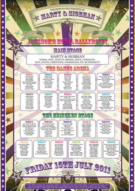 wedding table plan ideas festival wedding table plan poster wedfest