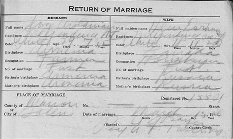 State Of Oregon Marriage License Records I Do Genealogy Sources And Types Of Marriage Records