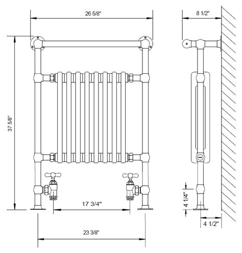 Hydrologic Plumbing Supply by Myson Hydronic Towel Warmers
