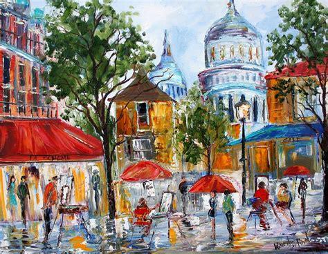paint places montmartre paris painting by karen tarlton