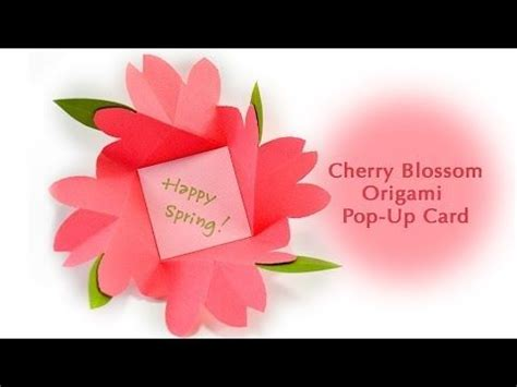 Origami Flower Pop Up Card - 243 best images about cards special shaped on