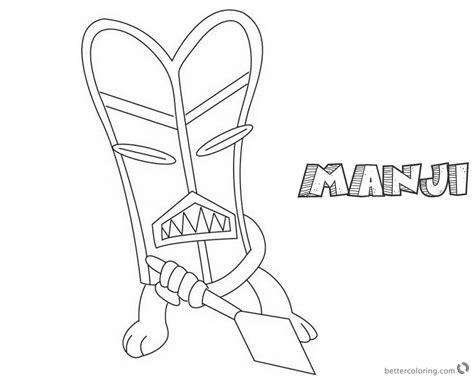 jumanji coloring pages animated tv series  manjis black