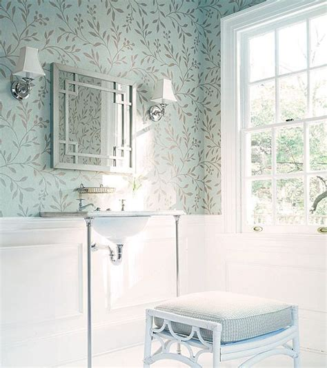 wallpaper above molding chair rail works great for
