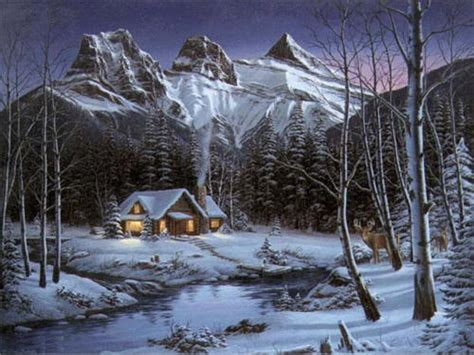 Blue Prints For Homes by Old Paintings Of Cabins Winter Cabin Paintings Cabin In
