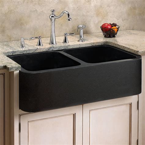 granite kitchen sinks polished granite double bowl farmhouse sink chiseled