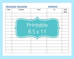 mileage record template mileage tracker form printable printable mileage tracker