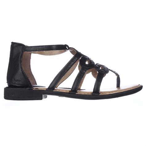 boc flat shoes born boc sigrid flat gladiator sandals in black lyst
