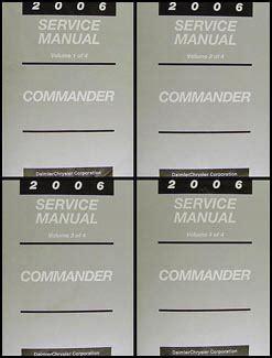 car repair manual download 2006 jeep commander engine control 2006 jeep commander repair shop manual original 4 vol set